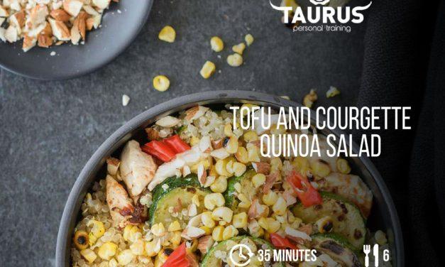 Tofu and Courgette Qunioa Salad