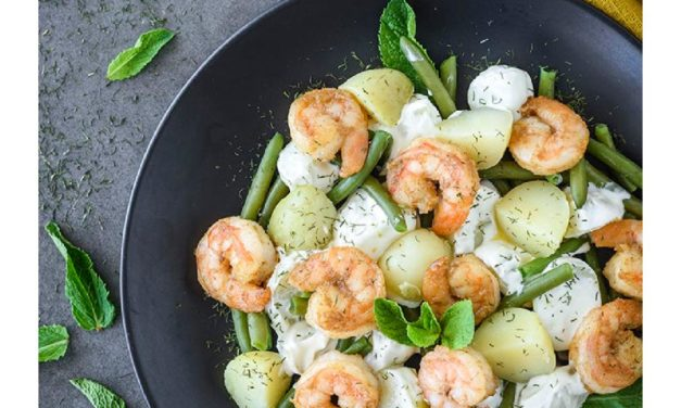 Roast Potato & Prawn Salad