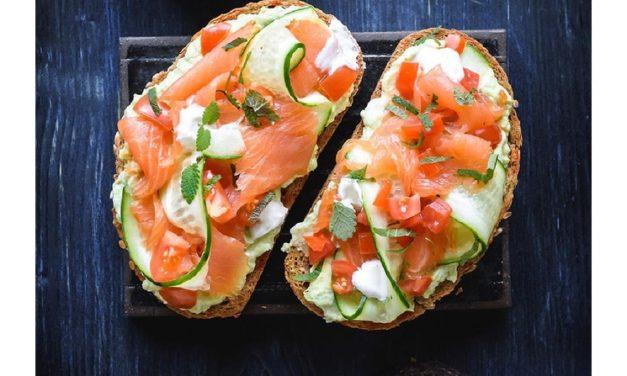 Avocado On Toast With Smoked Salmon